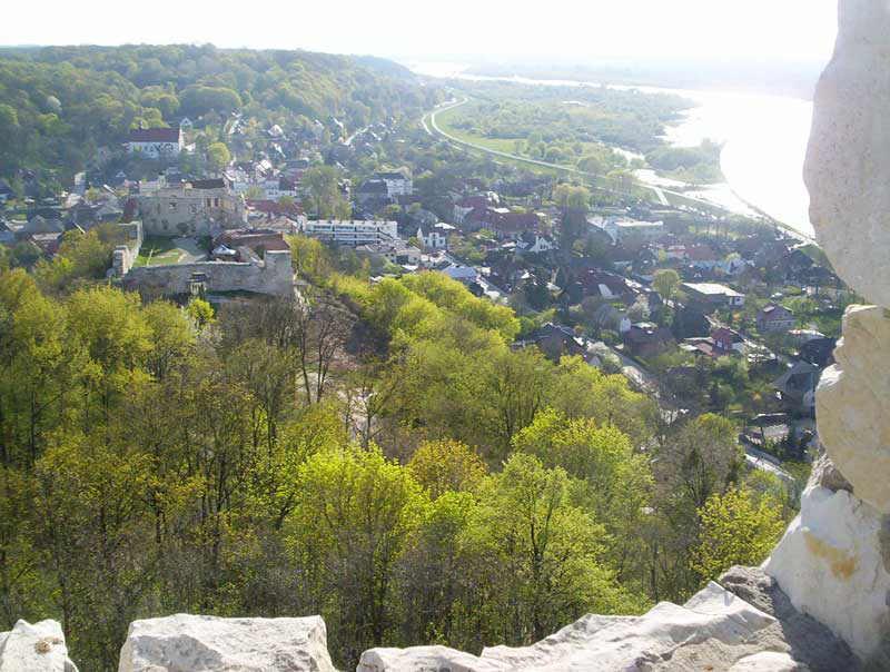 Widok z Baszty na Zamek i Kazimierz
