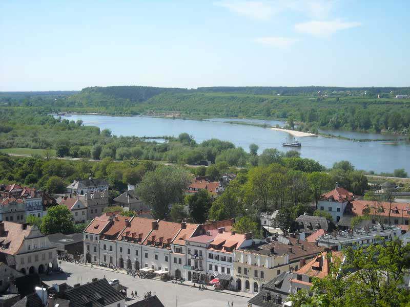 Kazimierz Dolny - Widok na rynek z Góry Trzech Krzyży